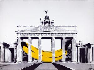 Banane im Brandenburger Tor